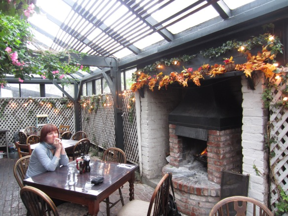Perfect lunch by the fire at the Pelican